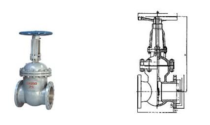 手动平行式闸阀产品结构图